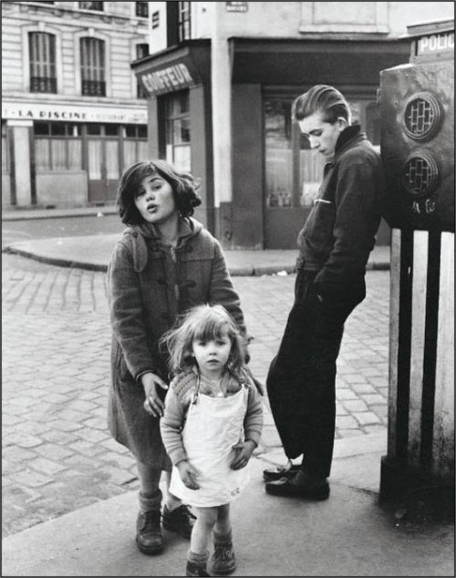 1957. Дети площади Эбер, Париж