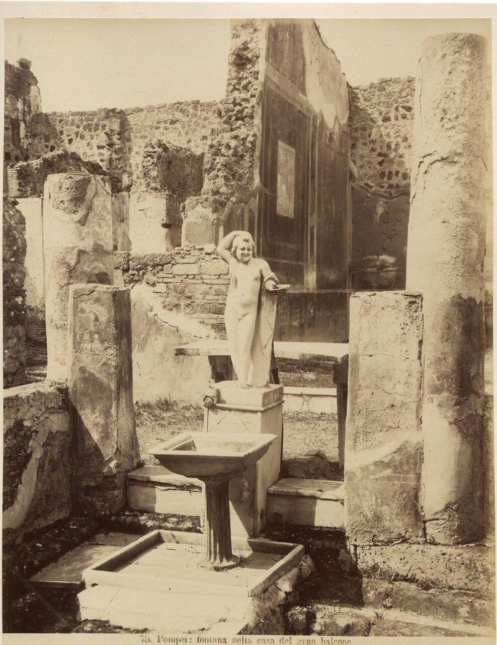 1875. Фонтан в Помпейской вилле