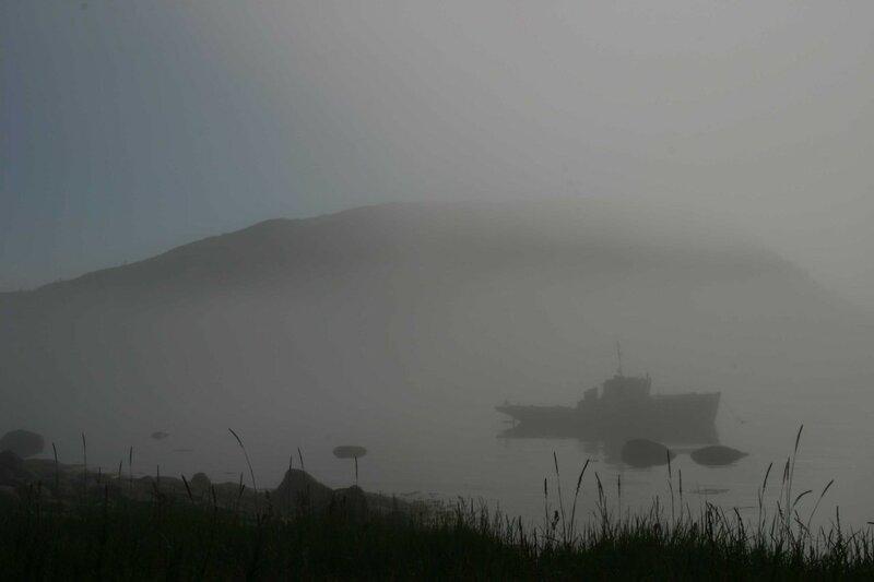 Архипелаг Кузова - остров Русский в тумане