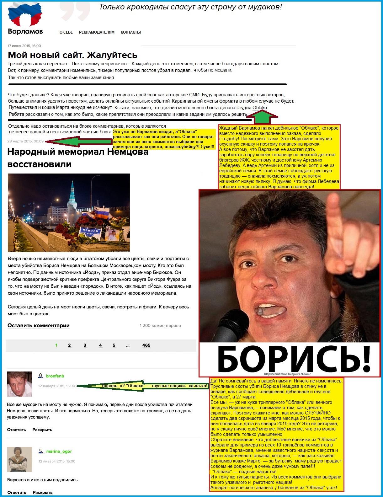 Немцов, Убийство, Варламов, Наци, Облако