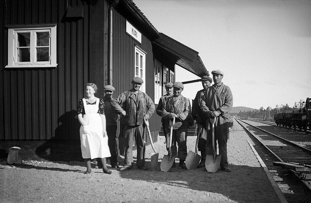 Norrbotten, Jokkmokk, Jokkmokk, Lappland, Övrigt-Personer, Byggnader-Kommunikationsväsen-Järnväganläggning