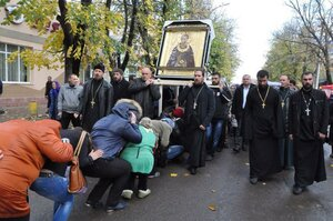 Orașul Glodeni a fost binecuvântat de icoana sfântului Serghie