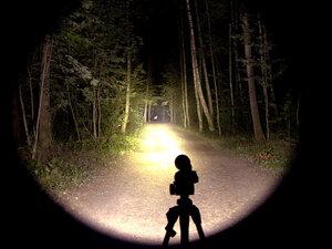 Подствольный дальнобойный охотничий фонарь - EagleTac S200C2 NW XM-L2 T6 светит так: Турбо режим, iso 200