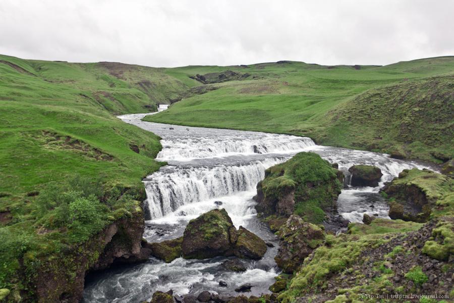 17. Ледники и водопады Эйяфьядлайокудля.