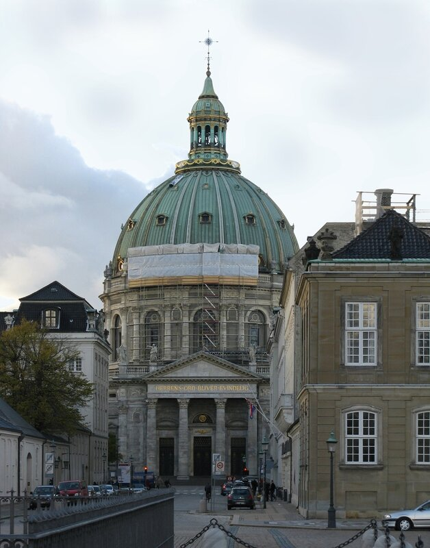 Copenhagen. Frederik's Church or the Marble Church (Frederiks Kirke, Marmorkirken)