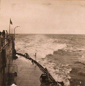Вид части палубы линейного корабля Севастополь.