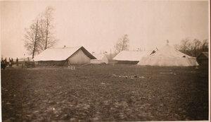 Палатки на территории размещения  перевязочно-питательного пункта №18, организованного отрядом Красного Креста В.М.Пуришкевич.