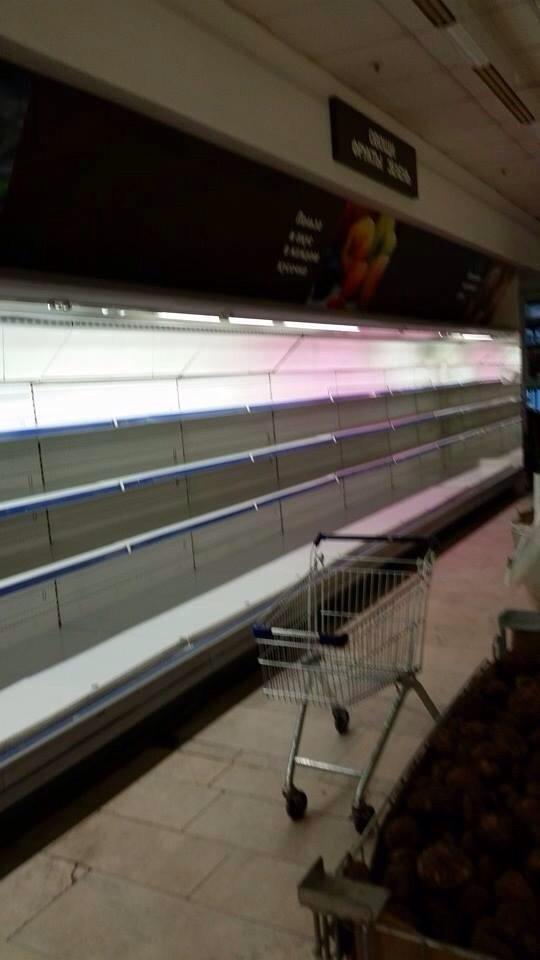 Магазин «Перекрёсток», Славянский бульвар, Москва, август 2014 год. Отдел «овощи-фрукты»