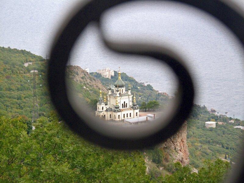На Форосе,храм Воскресения Христова