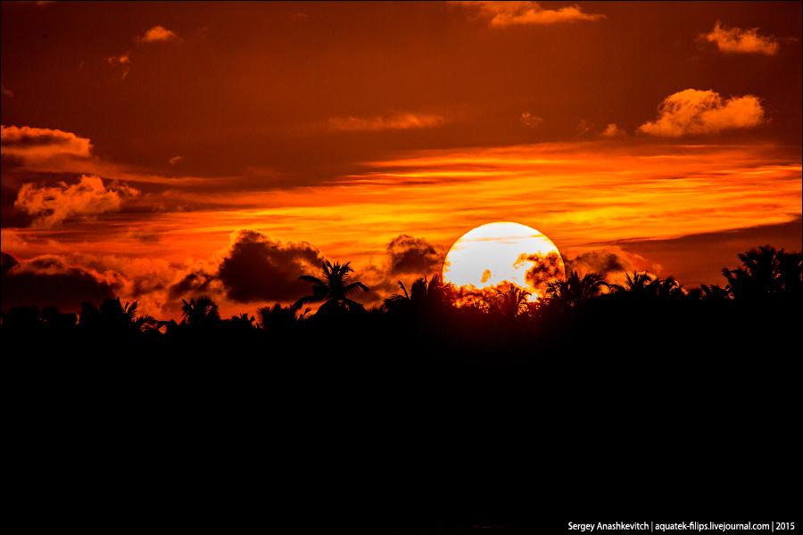 Sunrise in Dominikana / Рассвет в Доминикане