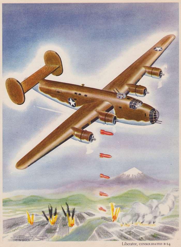 Consolidated B-24 Liberator - тяжелый бомбардировщик