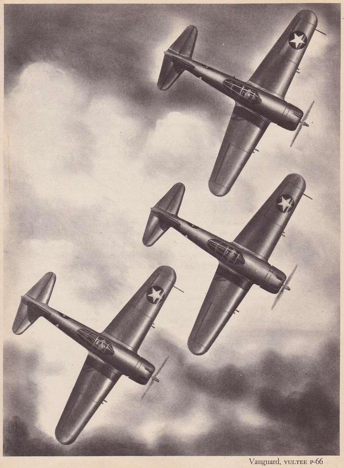 Vultee P-66 Vanguard - истребители