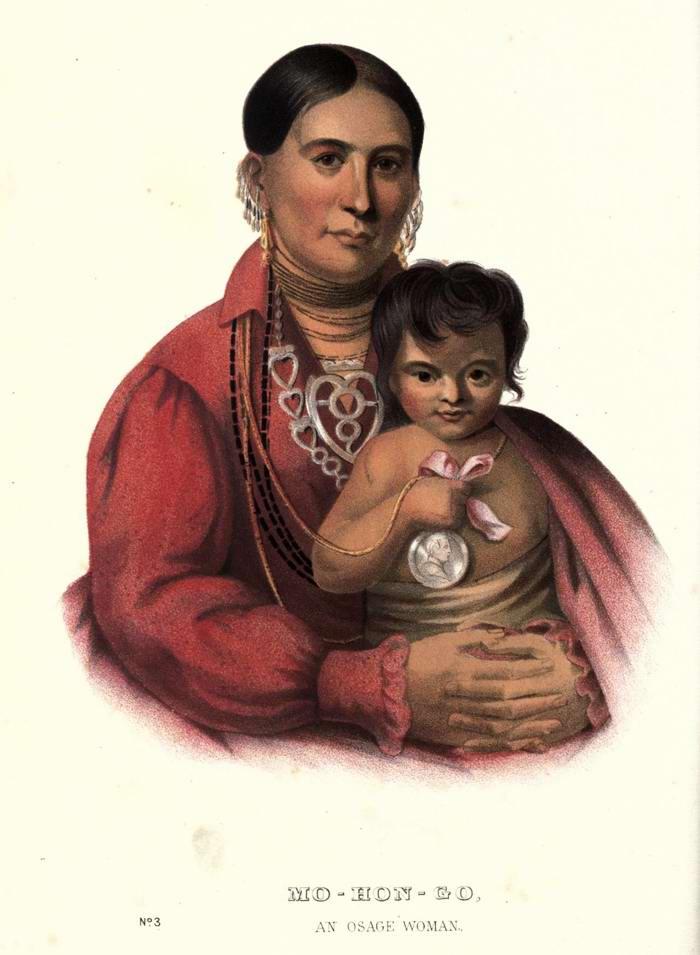 Женщина из племени Osage