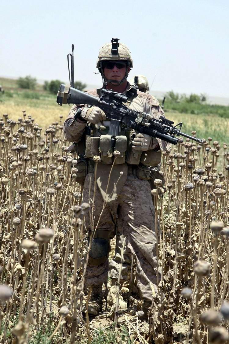 Посреди маковых полей Афганистана - фотографии военнослужащих корпуса морской пехоты США (37)