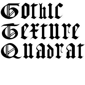 готические шрифты