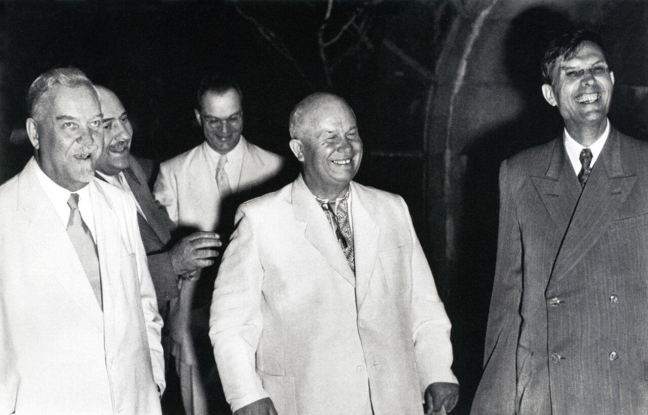 1955. Николай Булганин, Никита Хрущев и Михаил Суслов