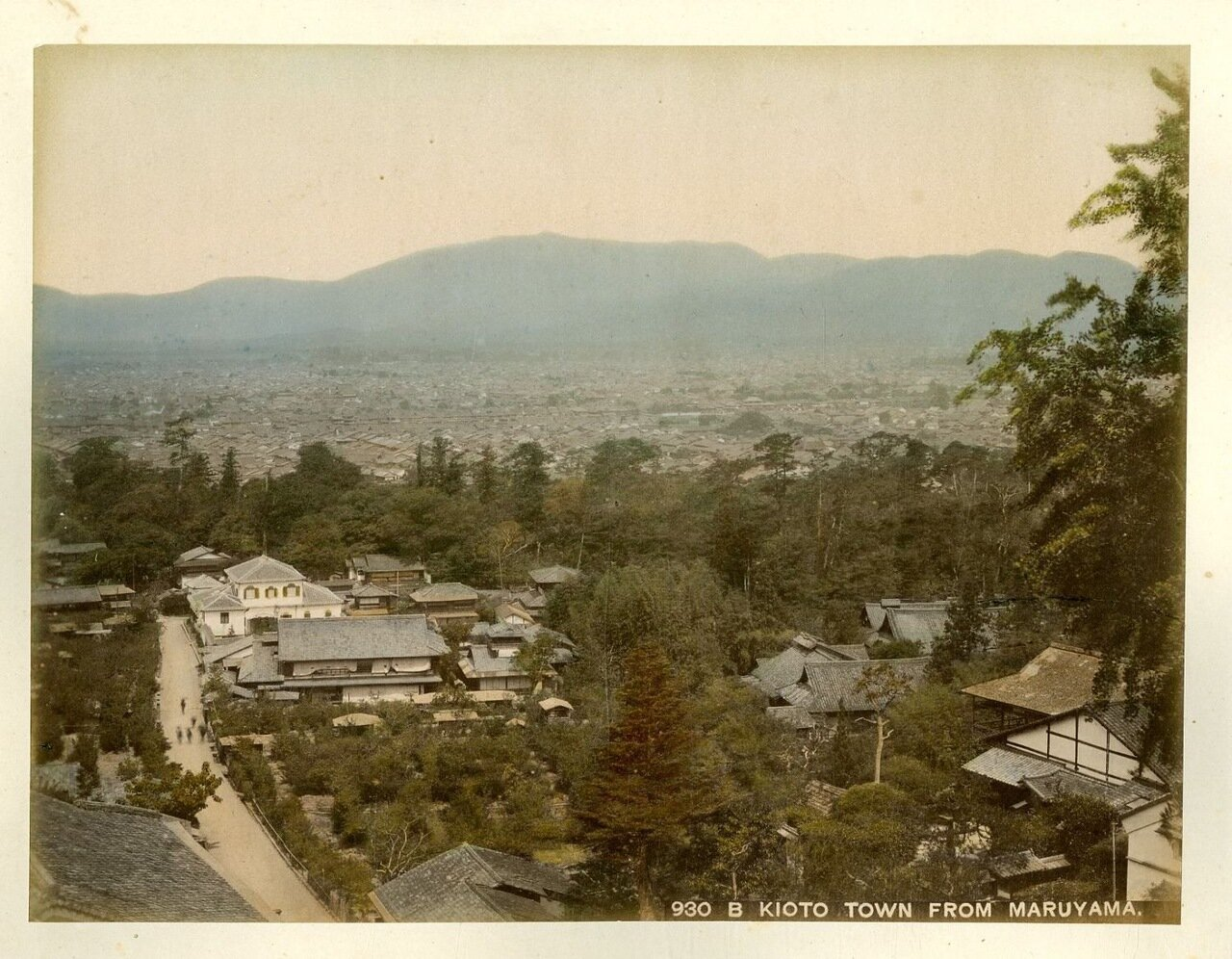 Киото. Вид на город из Маруямы