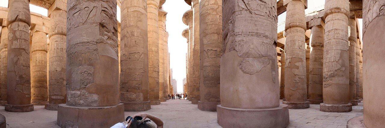 Карнак. Колоннада в храме Амона