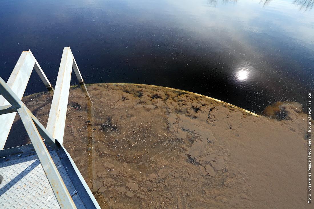 центральная часть вторичного отстойника система очистки сточных вод