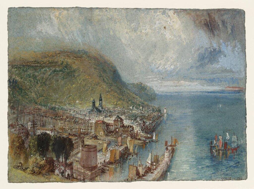 Honfleur circa 1832 by Joseph Mallord William Turner 1775-1851
