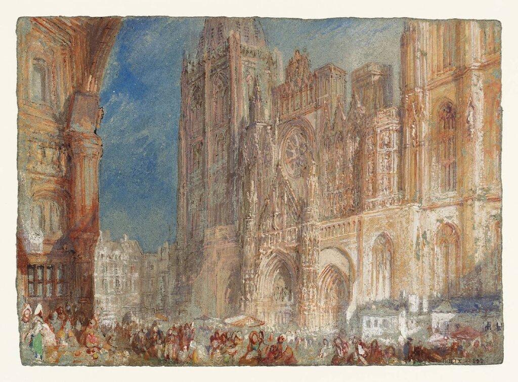 Rouen Cathedral circa 1832 by Joseph Mallord William Turner 1775-1851