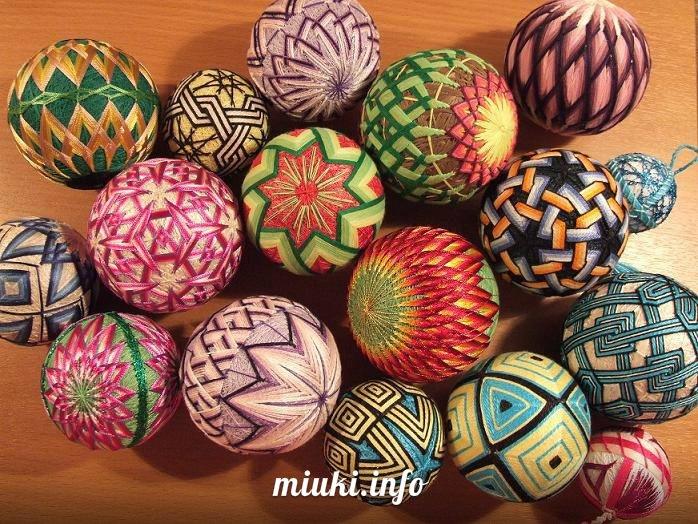 Темари - древнее японское искусство по вышивке шаров