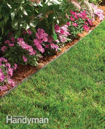 Граница газон-цветник, бордюрная лента