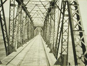 Вид моста через реку Селенгу