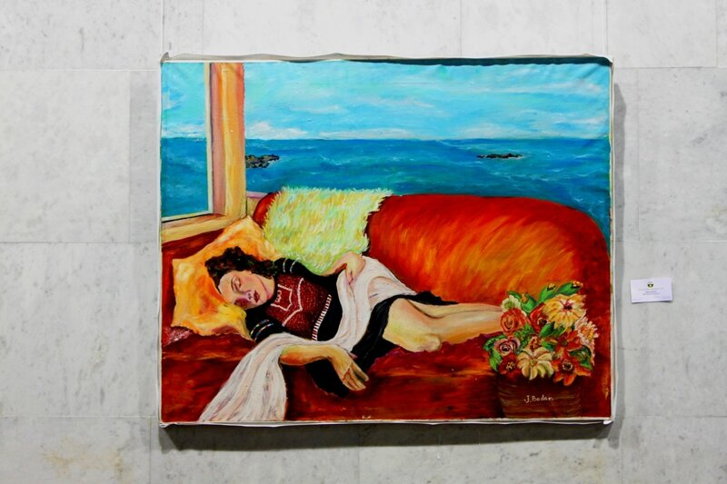 Выставка живописи на фестивале Азии