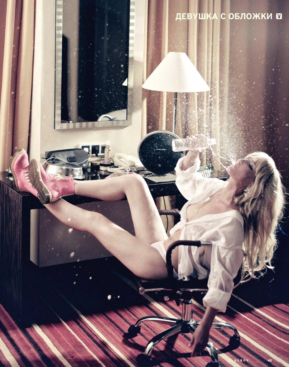 Футбольный журналист Катерина Кирильчева в журнале Playboy Россия, июль-август 2014