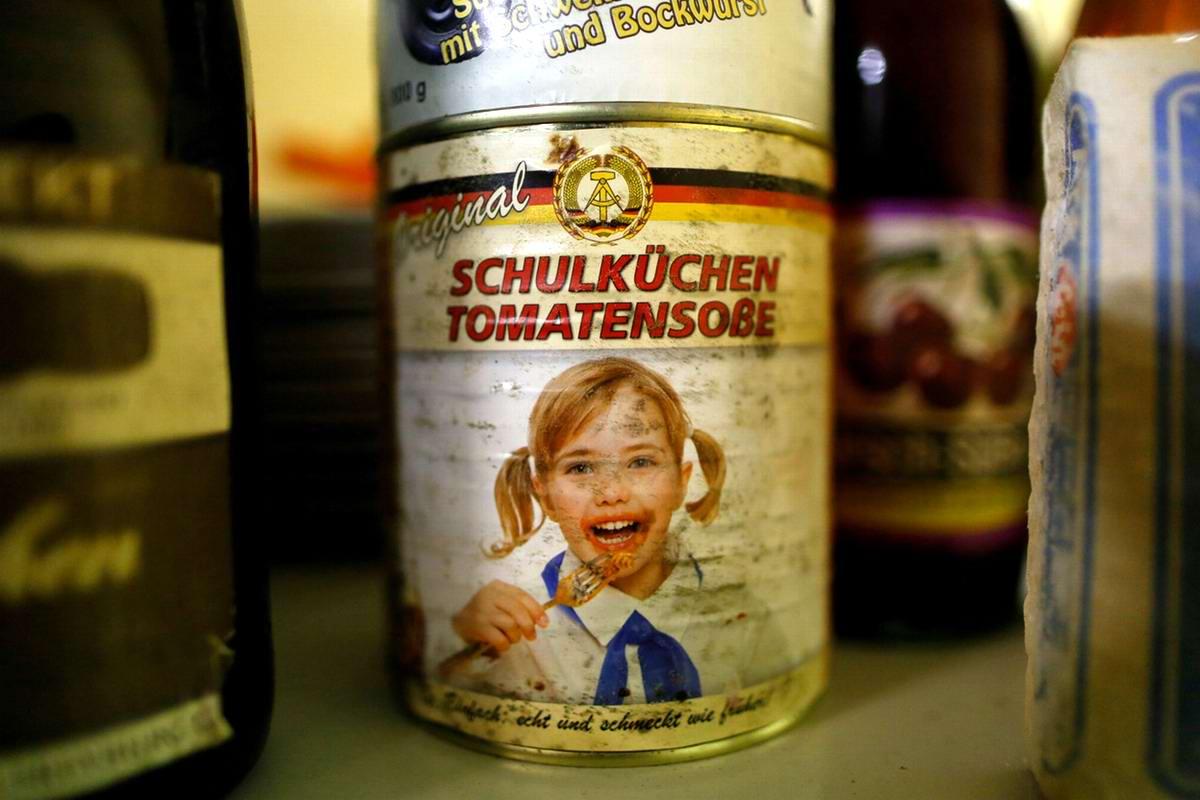 Банка с томатным соусом времен ГДР