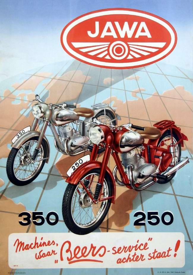 Jawa 250 и Jawa 350 - Чехословакия (1953 год)