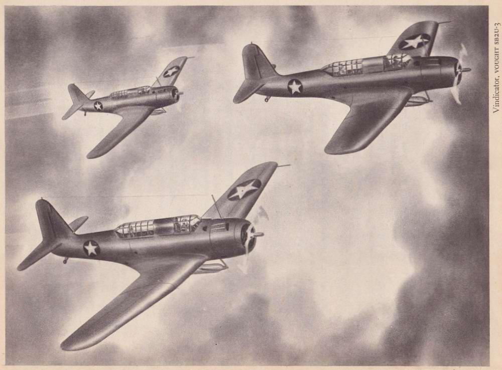Vought SB2U-3 Vindicator - палубные пикирующие бомбардировщики