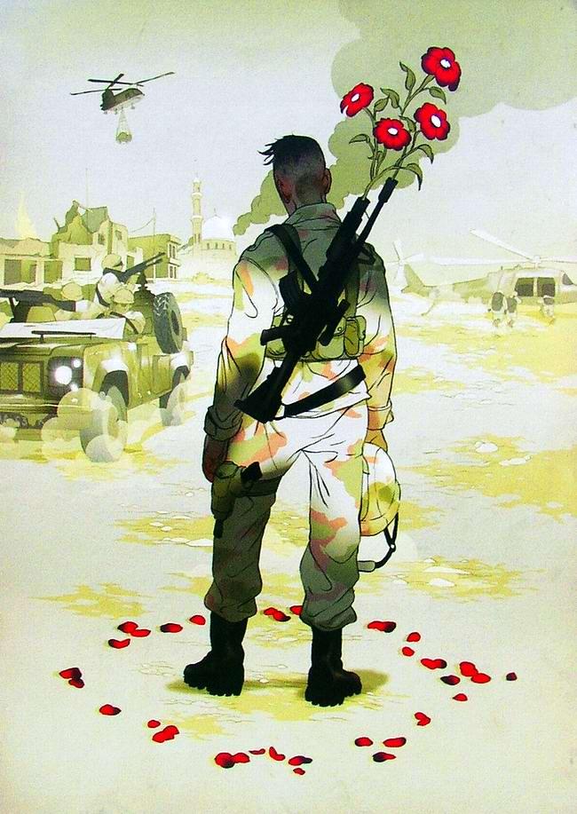 Художники Asaf и Tomer Hanuka (Израиль): иллюстрации на тему войн и военных конфликтов (1)
