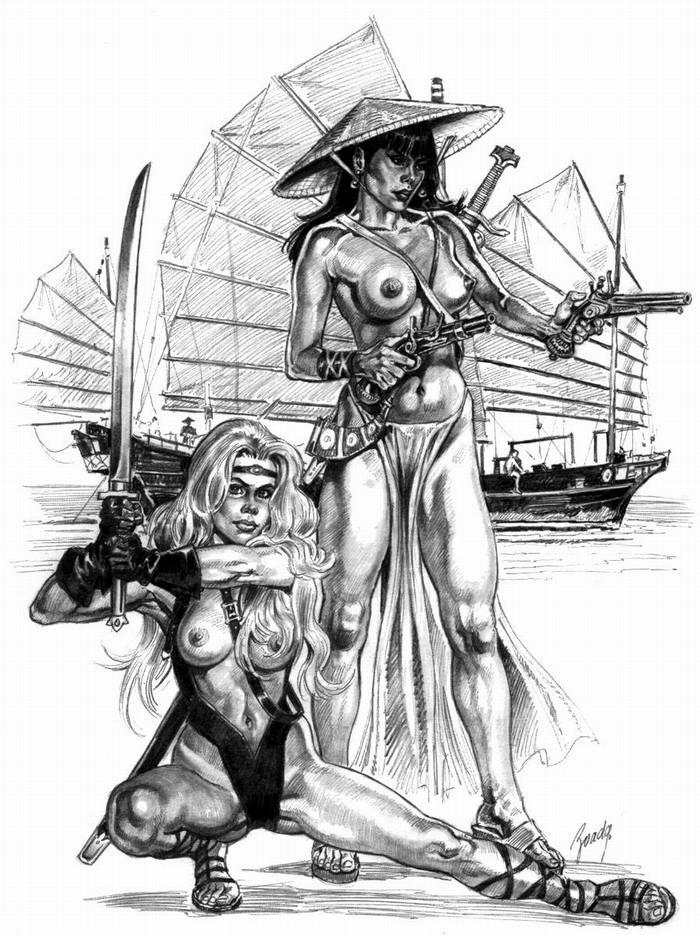 Графика: истории из жизни девушек - пираток (81)