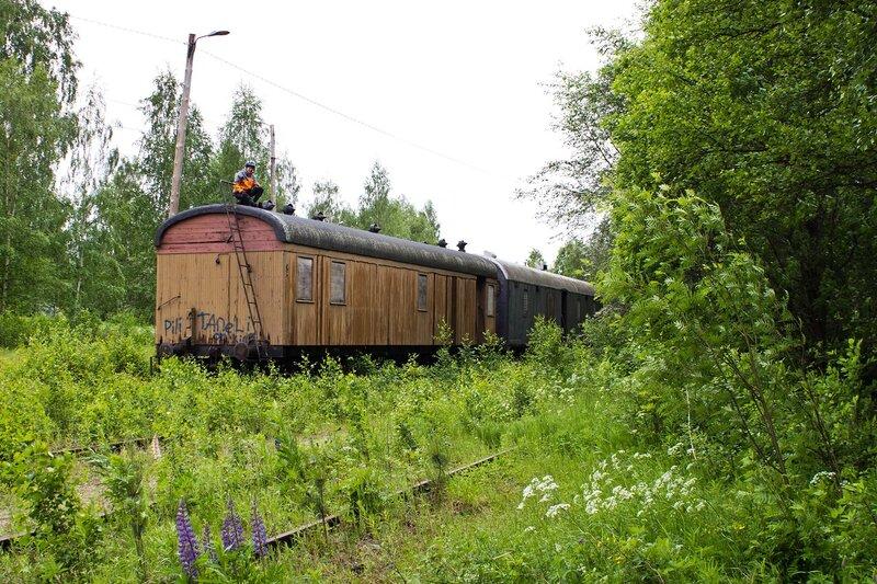 брошенные вагоны на станции Суолахти (Suolahti)