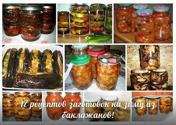 Заготовки на зиму из баклажанов. 17 вкуснейших рецептов