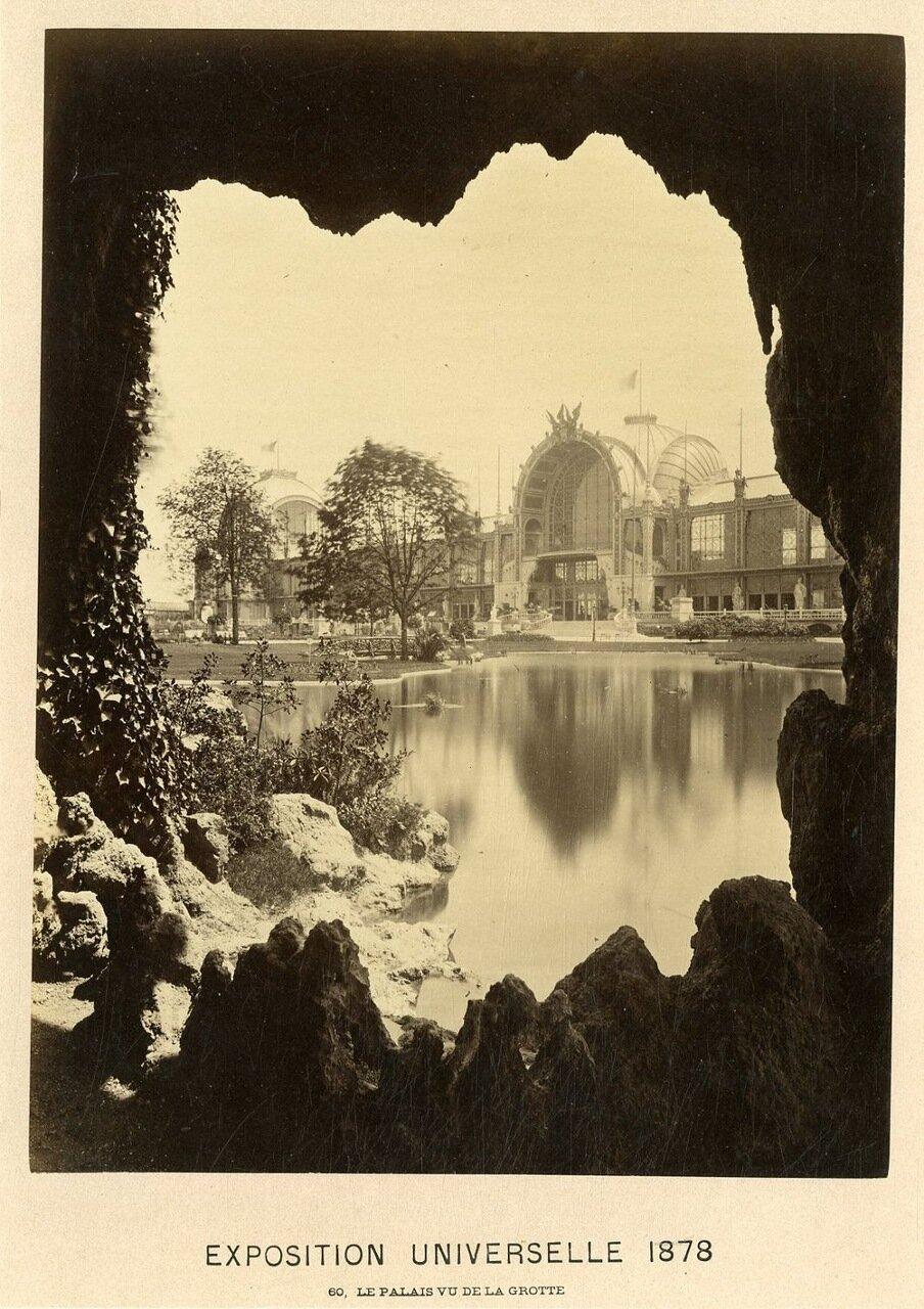 Вид дворца из пещеры