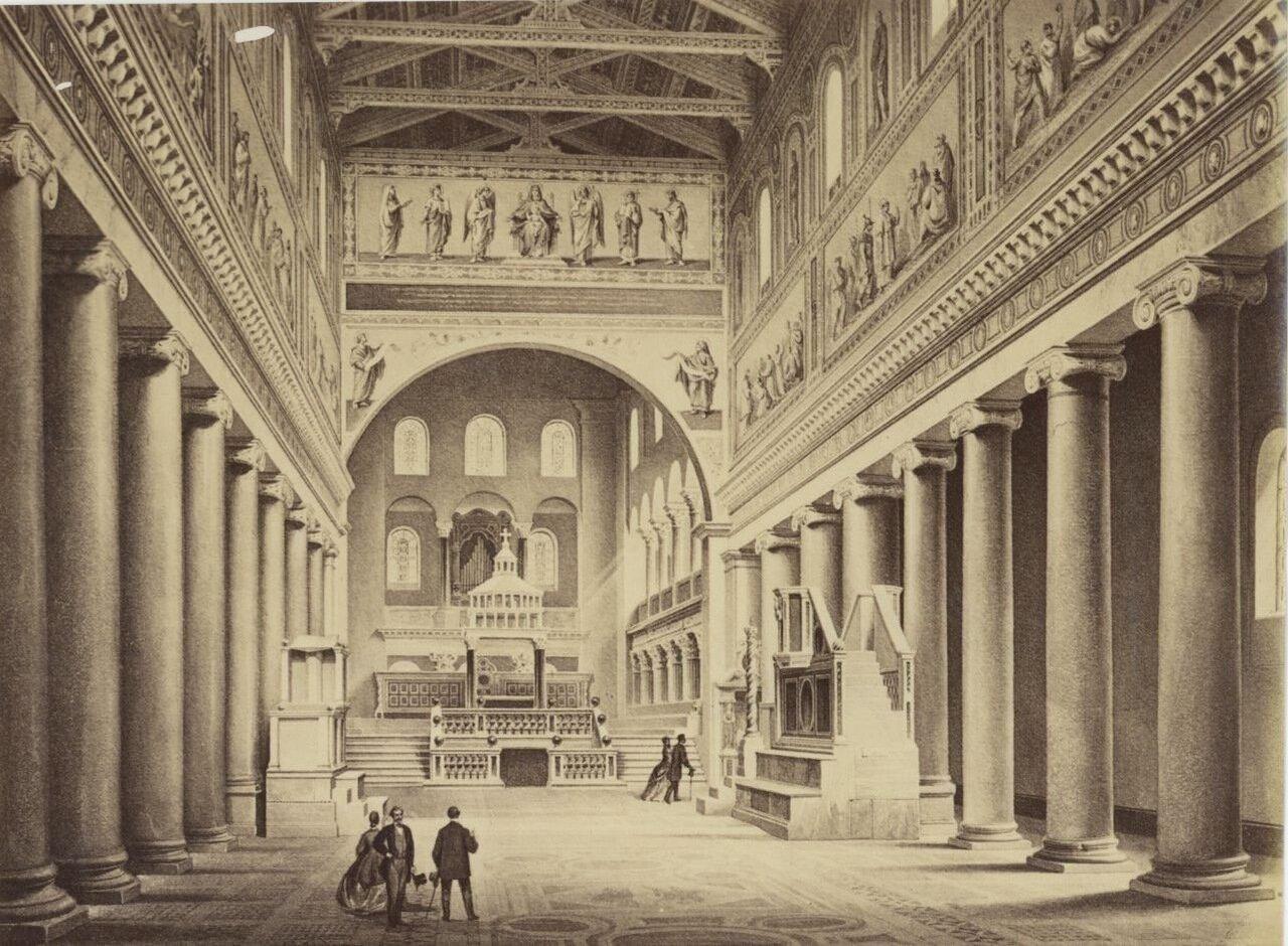 Церковь Сан Лоренцо фуори-ле-Мура. 1875.