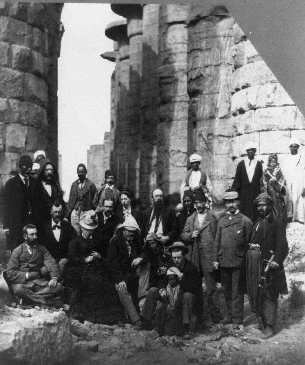Улисс Грант (18 президент США) возле Пирамид