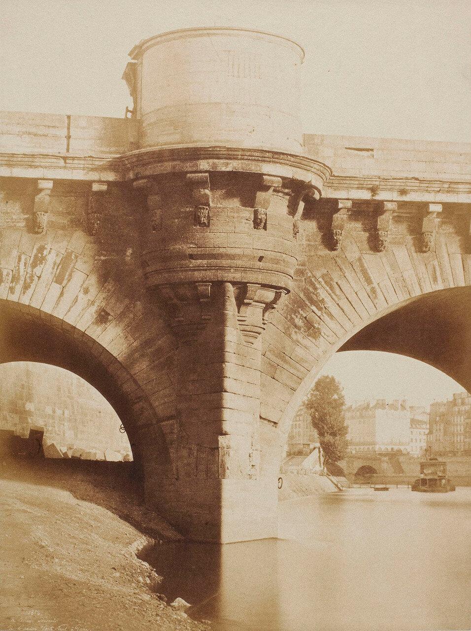 1852. Вид старого моста через Сену