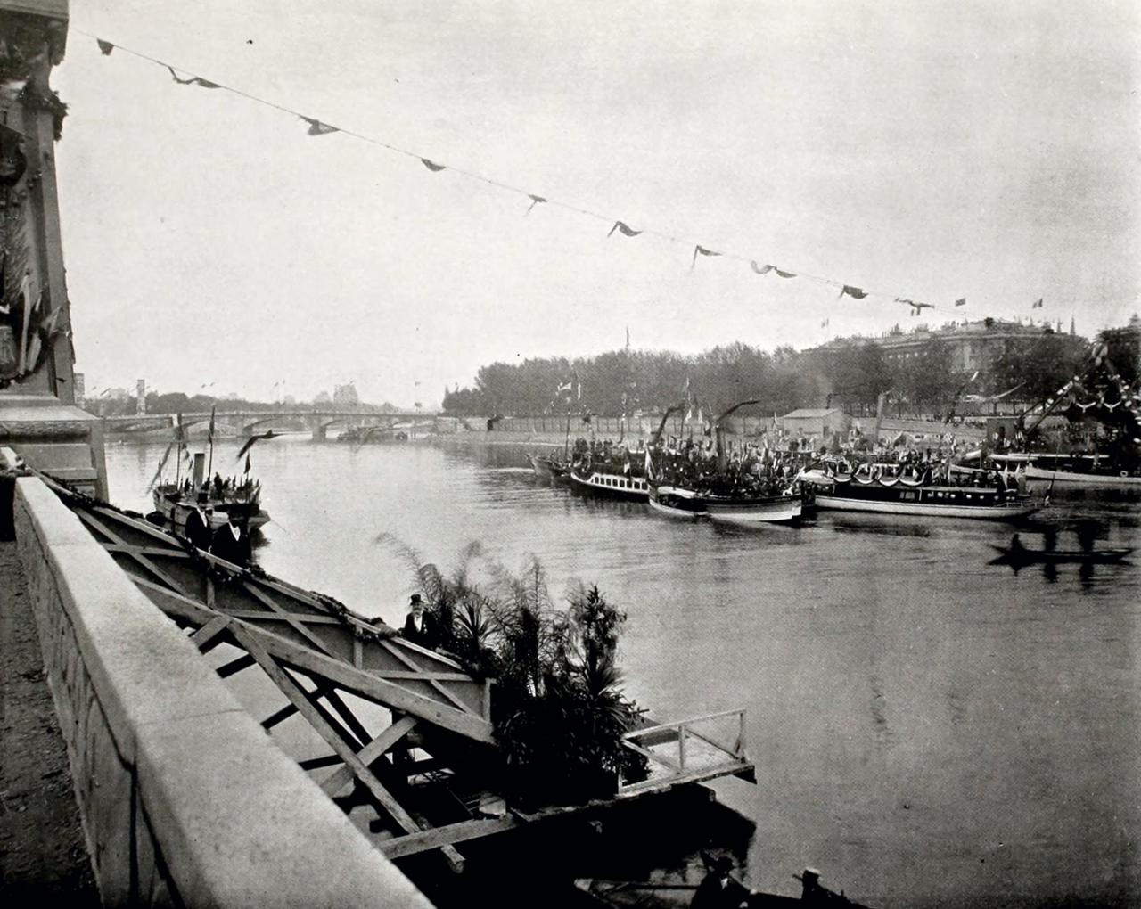 Торжественная закладка моста императора Александра III через Сену