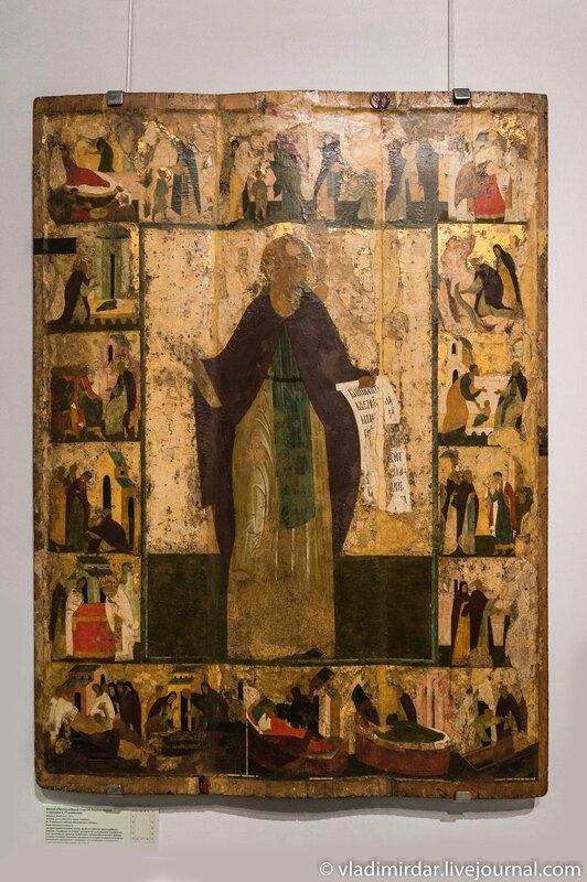 Икона «Преподобный Сергий Радонежский с житием в 19 клеймах».