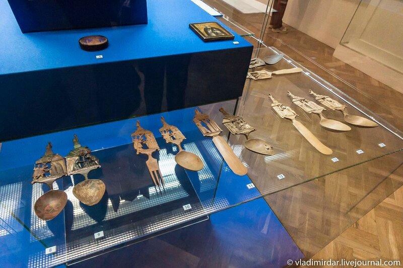 Вилки и ложки с изображением сцен из жития преподобного Сергия Радонежского
