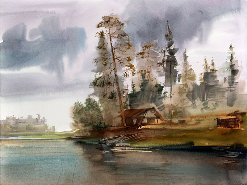 На озере Канда