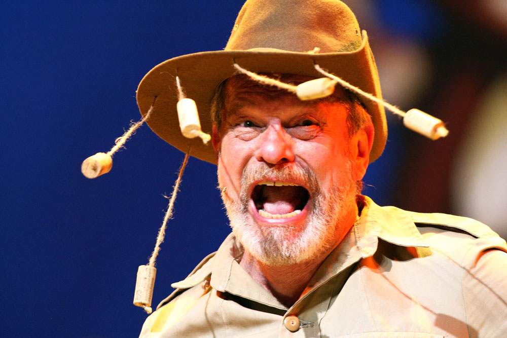 """LONDON, ENGLAND - JULY 01: (EXCLUSIVE COVERAGE)  Terry Gilliam performs on the opening night of """"Monty Python Live (Mostly)"""" on July 1, 2014 in London, England.  (Photo by Dave J Hogan/Getty Images)"""