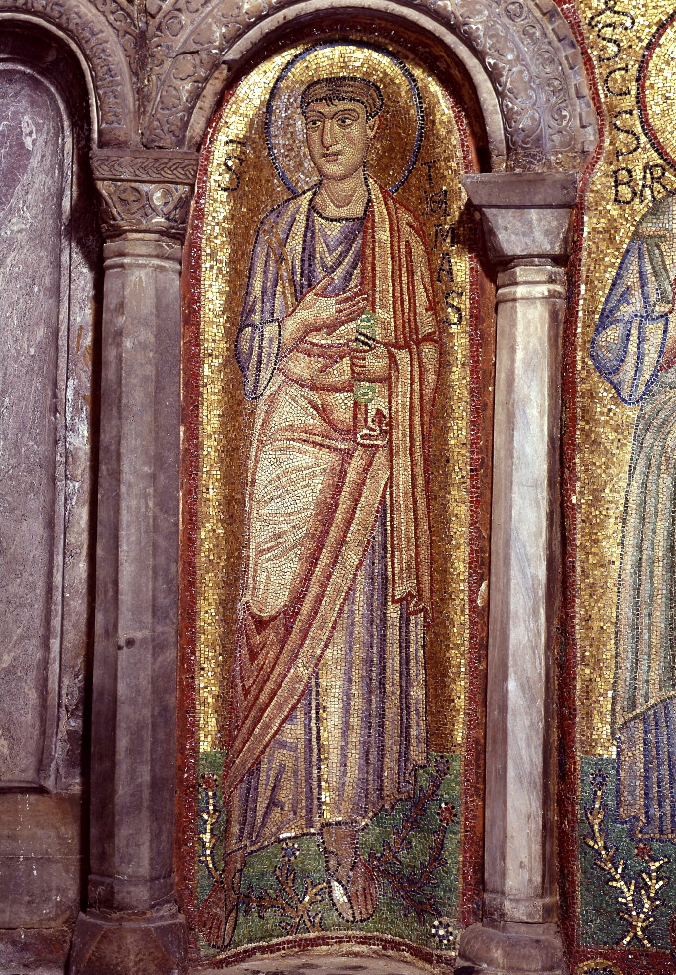 Святой Апостол Фома. Мозаика XI века в соборе Св. Марка в Венеции.