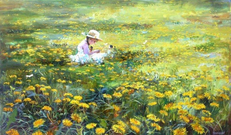 Ольга Таланцева 29.JPG. Где буйствуют травы, пропахшие мёдом, И тропки, как строчки – уходят в луга,