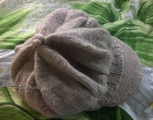 roventa-handmade, hat, knitted hat, вязаная кепка, кепка спицами, обновление кепки, вязание спицами