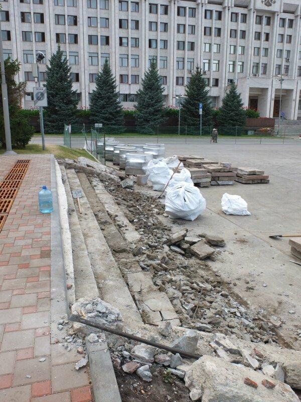Ремонт пр. Ленина, монумента, ярмарка на пл. Куйбышева 051.JPG